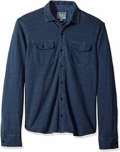Lucky Brand Mens Shirts Blue Size Large L Button Front Dual Pocket $69 899 $25.98