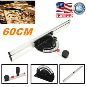 60CM Table Saw Router Angle Mitre Guide Gauge Fence Steel Baseplate Woodworking $25.89