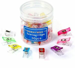 NSBNYMNG Multipurpose Sewing Clips—30PCS Quilting ClipsAssorted Colors Wonder... $5.97