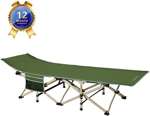 DRMOIS Camping cots Oversized Portable Foldable Outdoor Bed with Carry Bag Hea