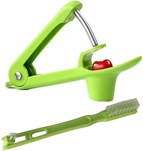 Cherry Pitter One hand Easy Tools Olive Core Seed Remover Fruits Corer w Brush $13.71