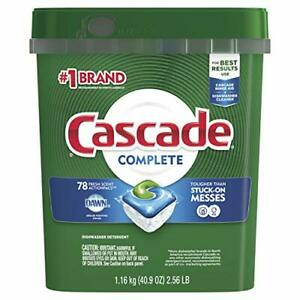 Cascade Complete ActionPacs Dishwasher Detergent Fresh Scent 2pack $33.99