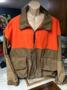vintage COLUMBIA hunting jacket 3XL duck shooting HUNTER ORANGE Outer Shell