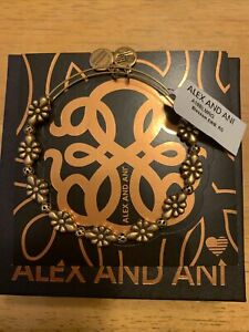 Alex and Ani Blossom Bangle Bracelet Rose Gold New Tag Box Card 2018 $21.99