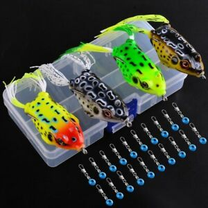 4PCS Topwater Fishing Frog Soft Lure For Tackle Bait Best Lures Swimbait Minnow