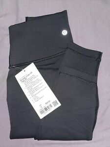 "Lululemon Wunder Under Black Leggings 28"" Size 6 $95.00"