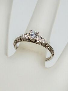 Signed VAN Craeynest $4850 .75ct VS G Diamond Platinum Wedding Ring MINT $2350.00