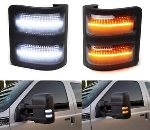 Clear Lens Side Mirror LED Signal Marker Light for Ford 2008 16 F250 F350 F450 $22.98