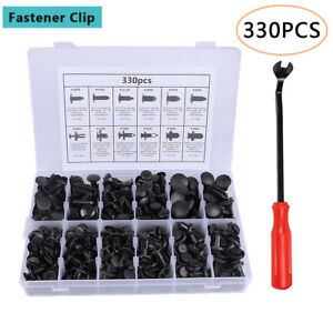 330pcs Car Clips Body Push Pin Rivet Trim Retainer Bumper Panel Fender Fastener $12.59