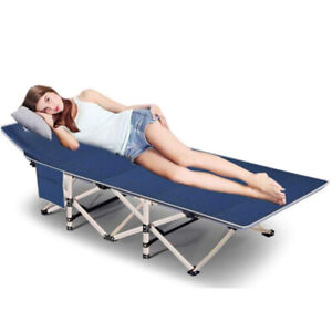 Folding Camping Cots Adults Heavy Duty Extra Wide Sturdy Portable Sleeping Bed