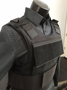Bulletproof Carrier Vest Made With Kevlar Plates Body Armor Inserts Bullet Proof $229.00