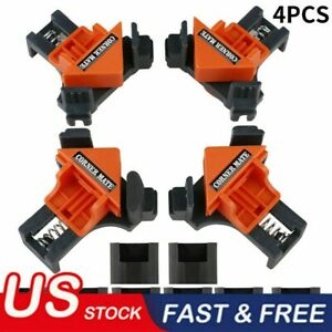 4Pcs Set 90 Degree Right Angle Clip Clamps Corner Holders Woodworking Hand Tools $13.22