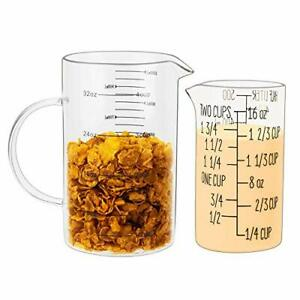 UMEIED Glass Measuring Cups Set Buy Large Get Small FREE High Borosilicate Gl $30.23