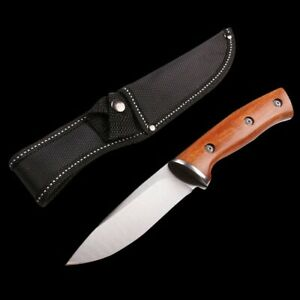 Best Camping Knife Outdoor Tactical Fixed Blade Stainless Steel Knives Tool New