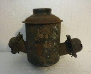 THE ANGLE LAMP CO N.Y. HANGING DOUBLE OIL BURNER ORNATE FLORAL PATTERN $34.99