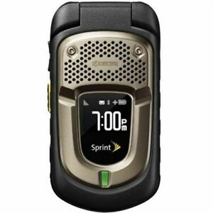 Kyocera DuraXT E4277 Black Sprint PTT 3G Rugged GPS Flip Camera Cell Phone