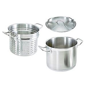 20 qt stainless steel commercial pasta cooker w lid