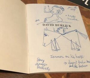 David Burliuk Rare ACA Gallery Pamphlet Signed And Original Drawings On Pamphlet $275.00
