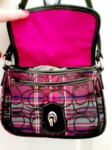 * COACH PINK RED BLACK quot;Valentine#x27;s Dayquot; quot;PRETTY IN PINKquot; HANDBAG PURSE