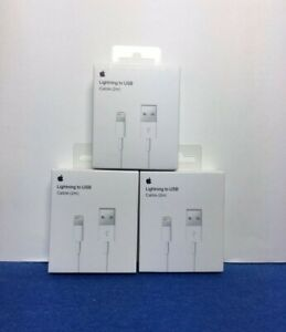 3 PACK ORIGINAL Apple Lightning Cable Charger 2m 6ft iPhone 11 X 8 7 plus