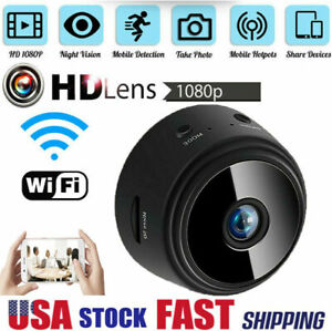 Mini Hidden Spy Camera Wireless Wifi Home Security DVR Night Vision HD 1080P $15.98
