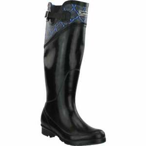 Puddletons Cozy Classic Tall Rain Womens Boots Knee High Blue Size 6 B $29.99