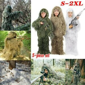 Ghillie Suit Camo 3D Jungle Hunting Camouflage Clothing Forest Woodland for Kids