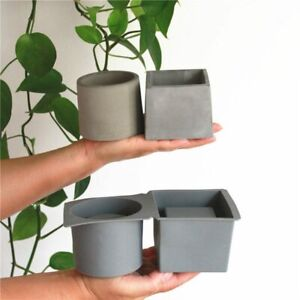 Creative Square Round Flower Pot Concrete Molds DIY Plaster Silicone For Plants $34.08