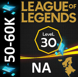 NA League of Legends LOL Account Smurf 50.000 60.000 BE Unranked Level 30 $4.39
