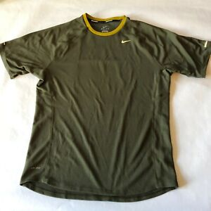 Nike running dry fit olive activewear t shirt mens M $12.00