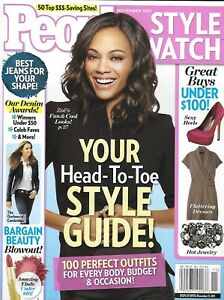 People Style Watch Magazine Zoe Saldana Best Jeans Bargain Beauty 100 Outfits