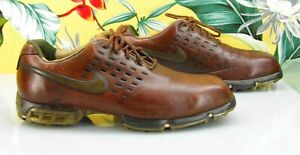 Vintage? Size 10 Nike Tiger Woods Learning Center Leather Golf Shoes Men#x27;s