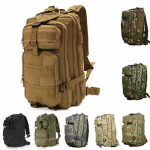 Military Molle Camping Backpack Camping Hiking Travel Tactical Bag 30L Outdoor