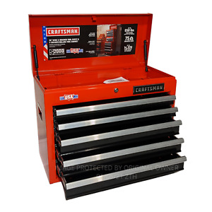 CRAFTSMAN 2000 Series 26 in W x 19.75 in H 5 Drawer Steel Tool Chest Red $121.98
