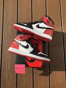 Air Jordan 1 OG Authentic Black Toe 2016 Retro VTG Vintage Size 10.5 OG