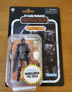 Star Wars Vintage Collection Din Djarin The Mandalorian with The Child In Hand