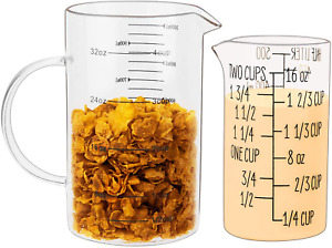 Umeied Glass Measuring Cups Set Buy Large Get Small Free High Borosilicate Gla $27.99