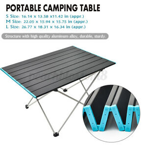 Folding Portable Table Lightweight Aluminum Alloy Outdoor Camping Picnic Roll $38.12