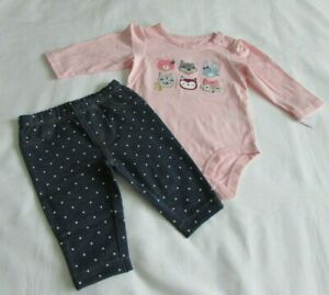 Baby Girls clothes 3 Months Carters 2 piece pant set New with tags $11.99