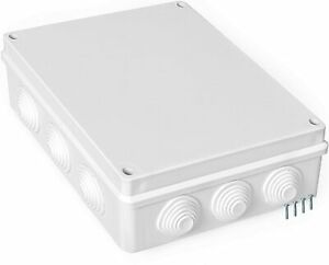 Outdoor Electrical Junction Box Large 10 x 8 Inch Waterproof Plastic Box $23.99