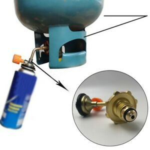 Outdoor Camping For Gas Butane Cylinder Tank Refill Connector Adapter Valve