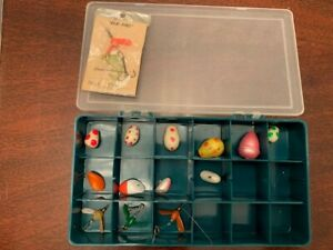 Vintage GLO FIRE No.1 and misc VINTAGE lures. Box not included