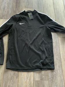 Nike Mens Nike Dry Squad 1 4 Zip Long Top NEW W TAGS 831569 Black Large $35.00