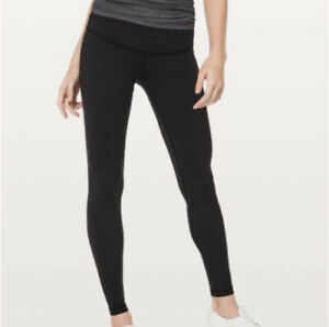 Lululemon Wunder Under Low Rise Tight 28quot; Black 10 $74.99