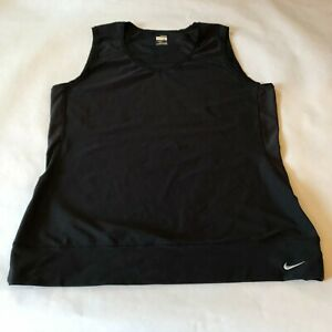 Nike FIT DRY Black womens tank activewear top womens size Large $8.97