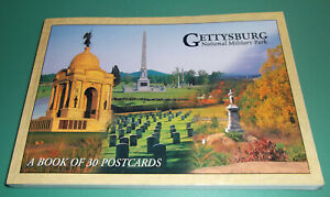 GETTYSBURG NATIONAL MILITARY PARK BOOK OF 30 POSTCARDS $7.00