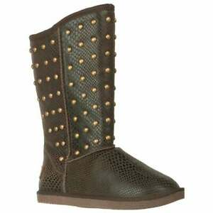 Lugz Kimi Slip On Womens Boots Mid Calf Brown $19.99