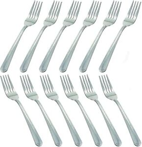 12 Pcs Dinner Forks Silverware Set 7 Inches Heavy Duty Forks Stainless Steel $12.88