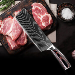 7#x27;#x27; Kitchen Cleaver Knife Chef Knife Stainless Steel Japanese Damascus Chopping $18.99