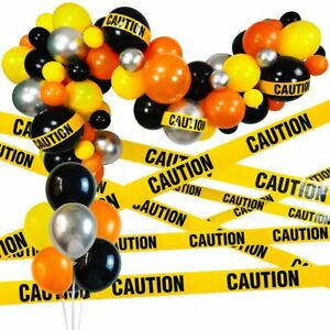 Construction Party Supplies Balloon Arch Boy Truck Birthday Decor Caution Tape